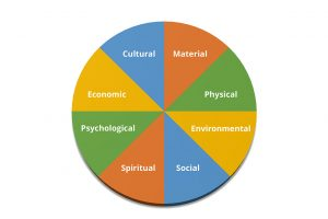 Figure 1: The Eight Components of Wellbeing